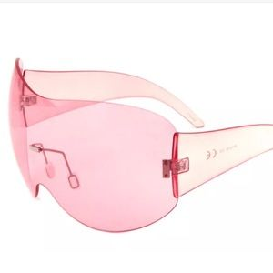 Barbie pink cosmic club party sunglasses clear NWT